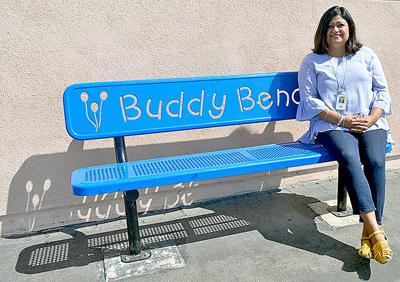 Sitting on the Buddy Bench