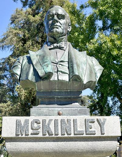 The McKinley bust in Smiley Park
