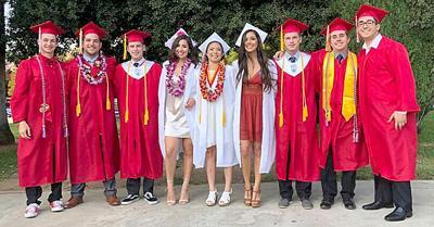 Arrowhead Christian Academy graduates pose at the Redlands Bowl.
