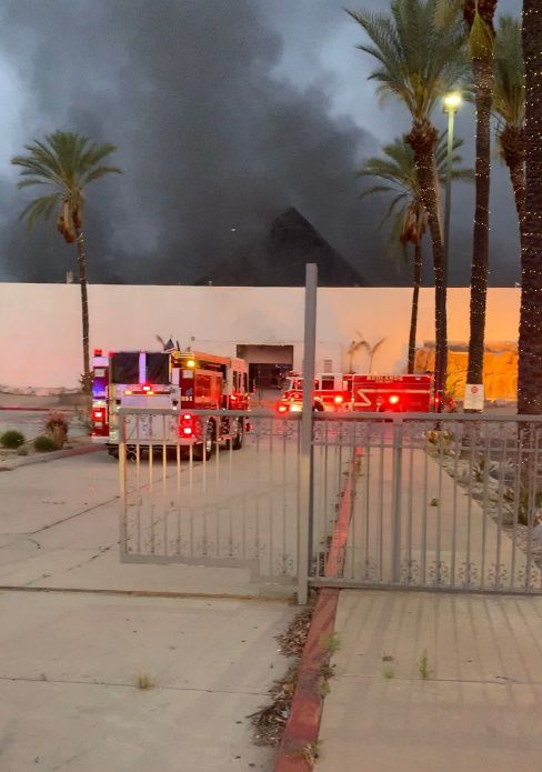 It took firefighters approximately an hour to knock down the blaze.