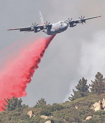 Battling the El Dorado Fire from the air.
