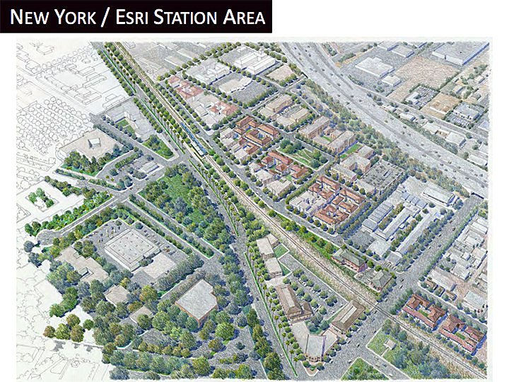 Rendering of the Esri station for the Redlands passenger rail project