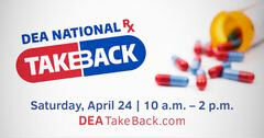 Take back drugs day is Saturday, April 24