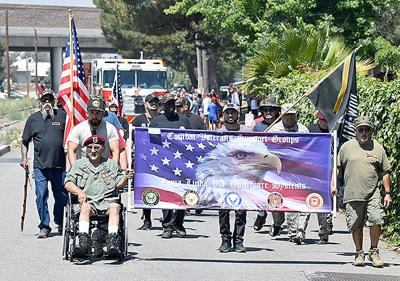 Veterans march in the 2019 Independence Day Parade in Redlands