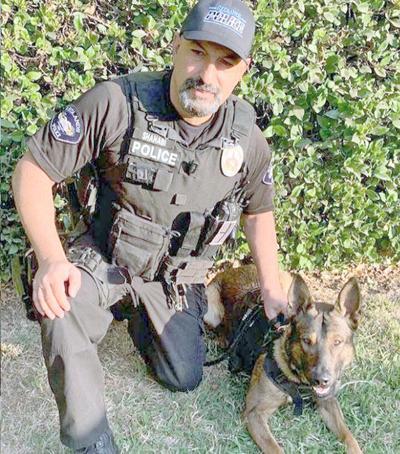 Officer Mazi Shahabi and Jake.
