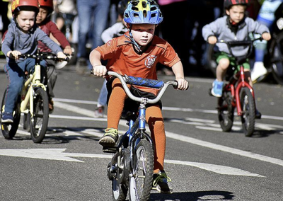 Young cyclists compete in the 2019 Redlands Bicycle Classic