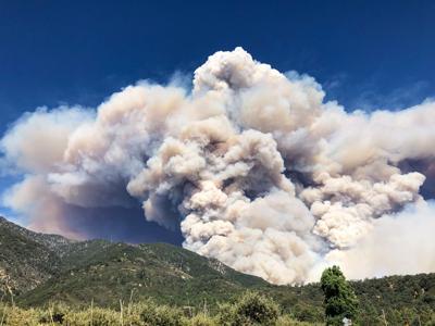 Apple Fire - Oak Glen Fire Camp (Los Rios Ranchos) and Mias Canyon