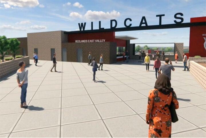 Concept art of the REV stadium plaza. Concept art of the REV stadium plaza.
