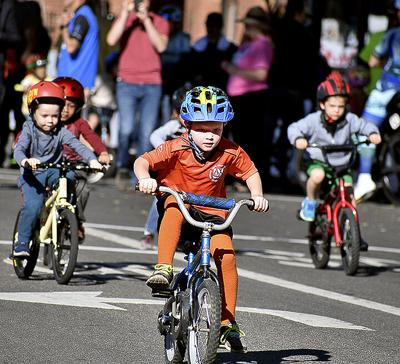 Youngsters race in the 2019 Redlands Bicycle Classic,, the last time the event was held.