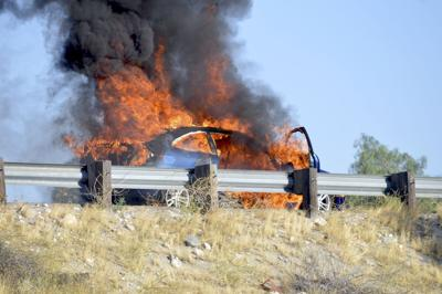 Car fire causes delay