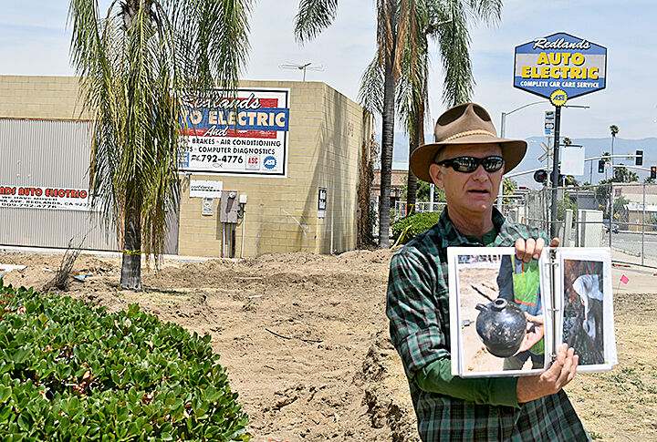 Donn Grenda announcing the archaeological dig at the site of Packinghouse District phase 2