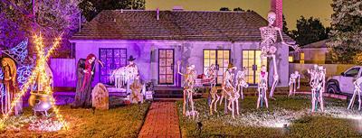 Skeleton family at 1032 W. Highland Ave., Redlands