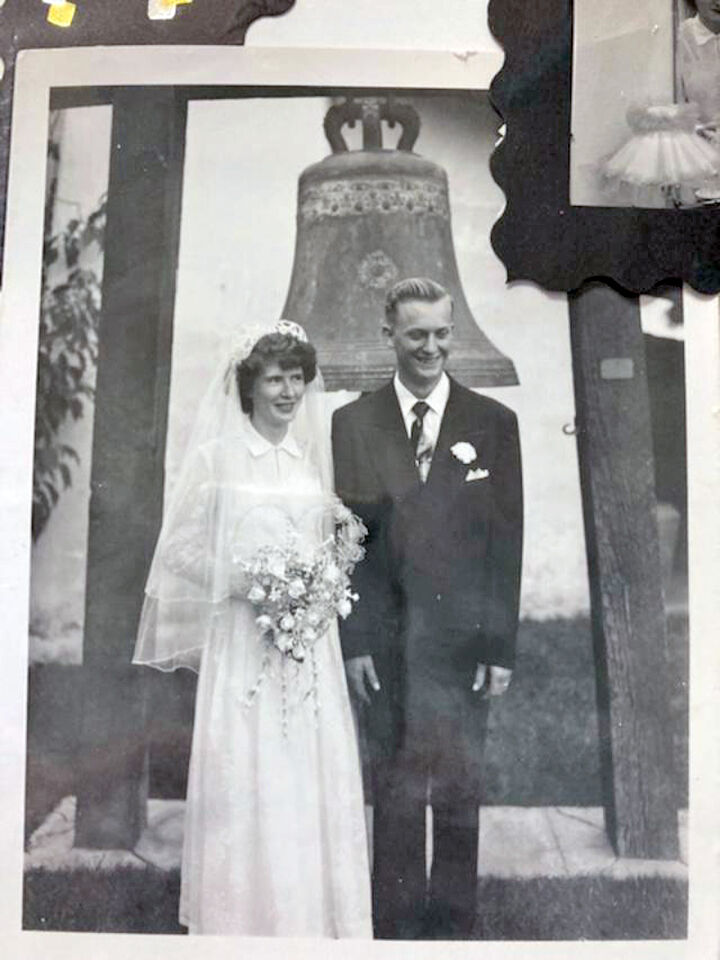 George and Emily Jean Hoogeveen at their wedding on Sept. 30, 1951, at the Asistencia.