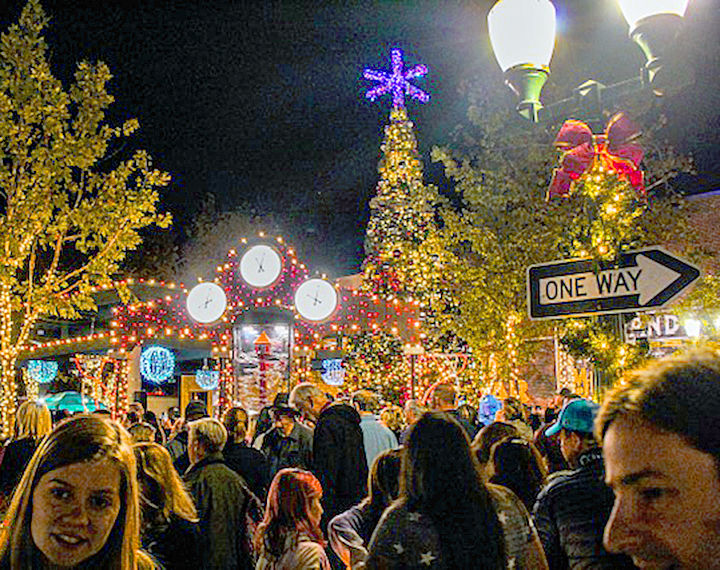 Ed Hales Park lit up for the holidays.