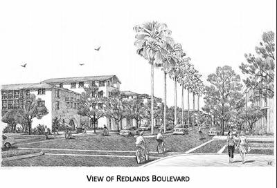 Artist's rendering of the Redlands Boulevard of the future