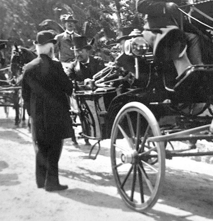 President Teddy Roosevelt visiting Redlands.