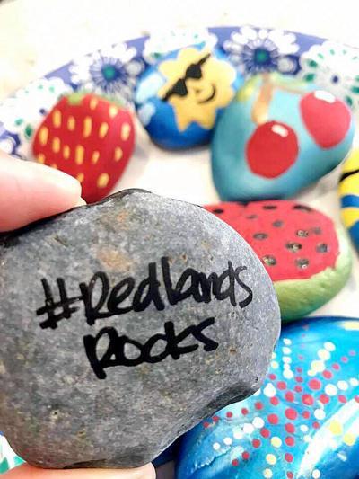 Look for rocks in Redlands