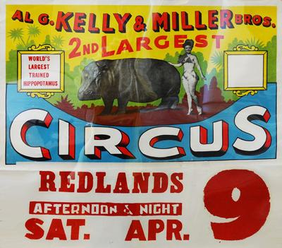 Circus ads are now a Redlands treasures.