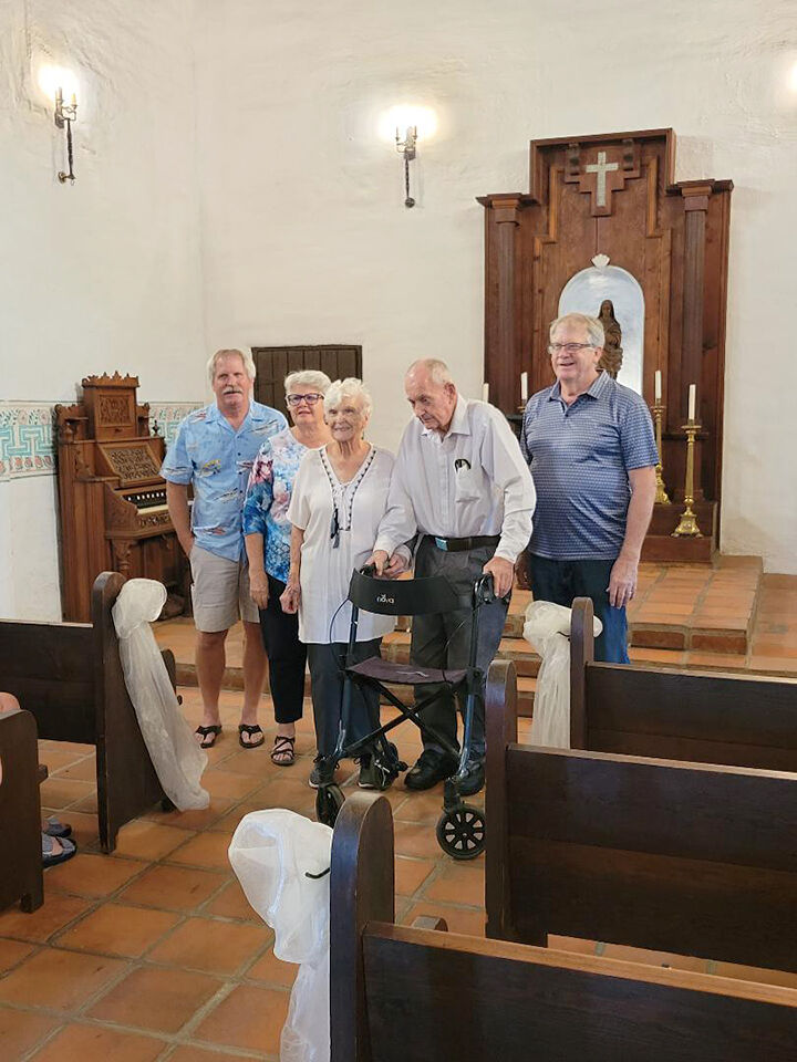Ringing the bell to celebrate a 70th anniversary