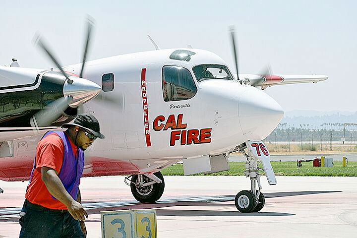 Cal Fire Air Tanker ready for takeoff.