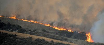Fire in Live Oak Canyon