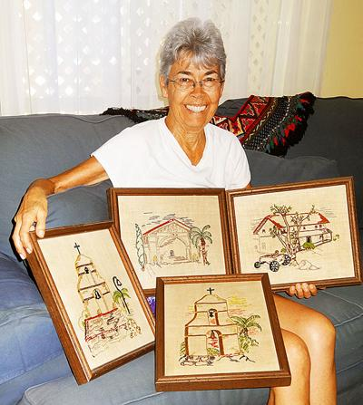 Embroideries donated to the Museum of Redlands