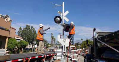 Work continues on the Relands Passenger Rail Project.