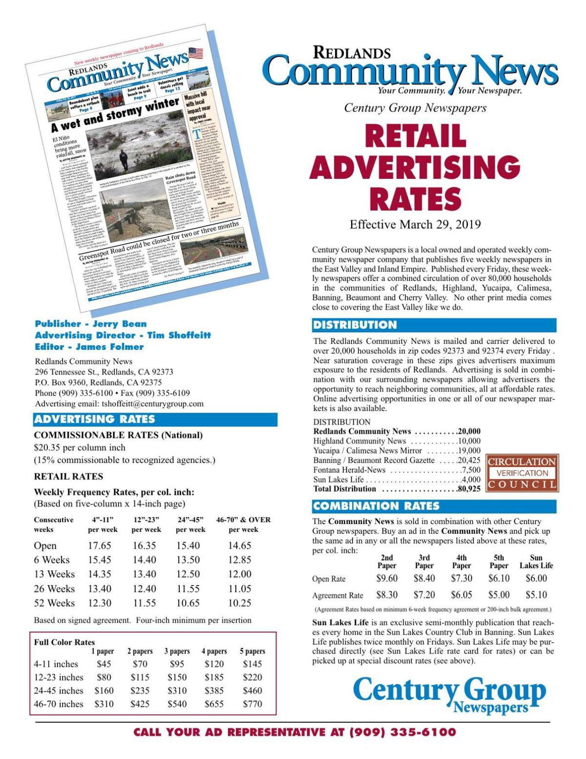 Retail Rate Card