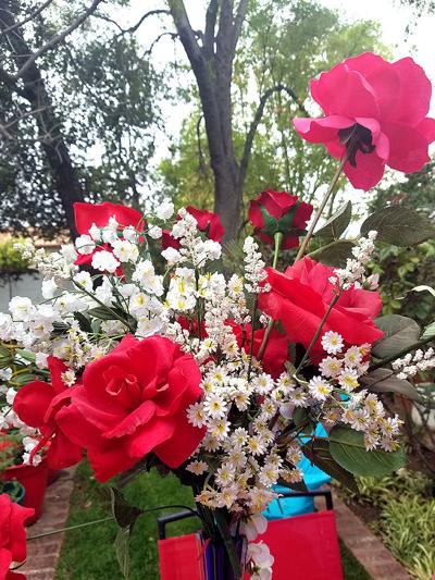 Pick a bouquet of flowers from your garden and make someone happy.