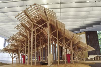 Architecture exhibit displays models of famous architect's unfinished work