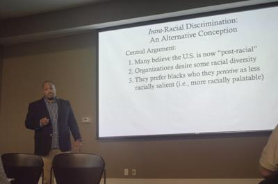 Sociologist Ted Thornhill presents on racism in college admissions