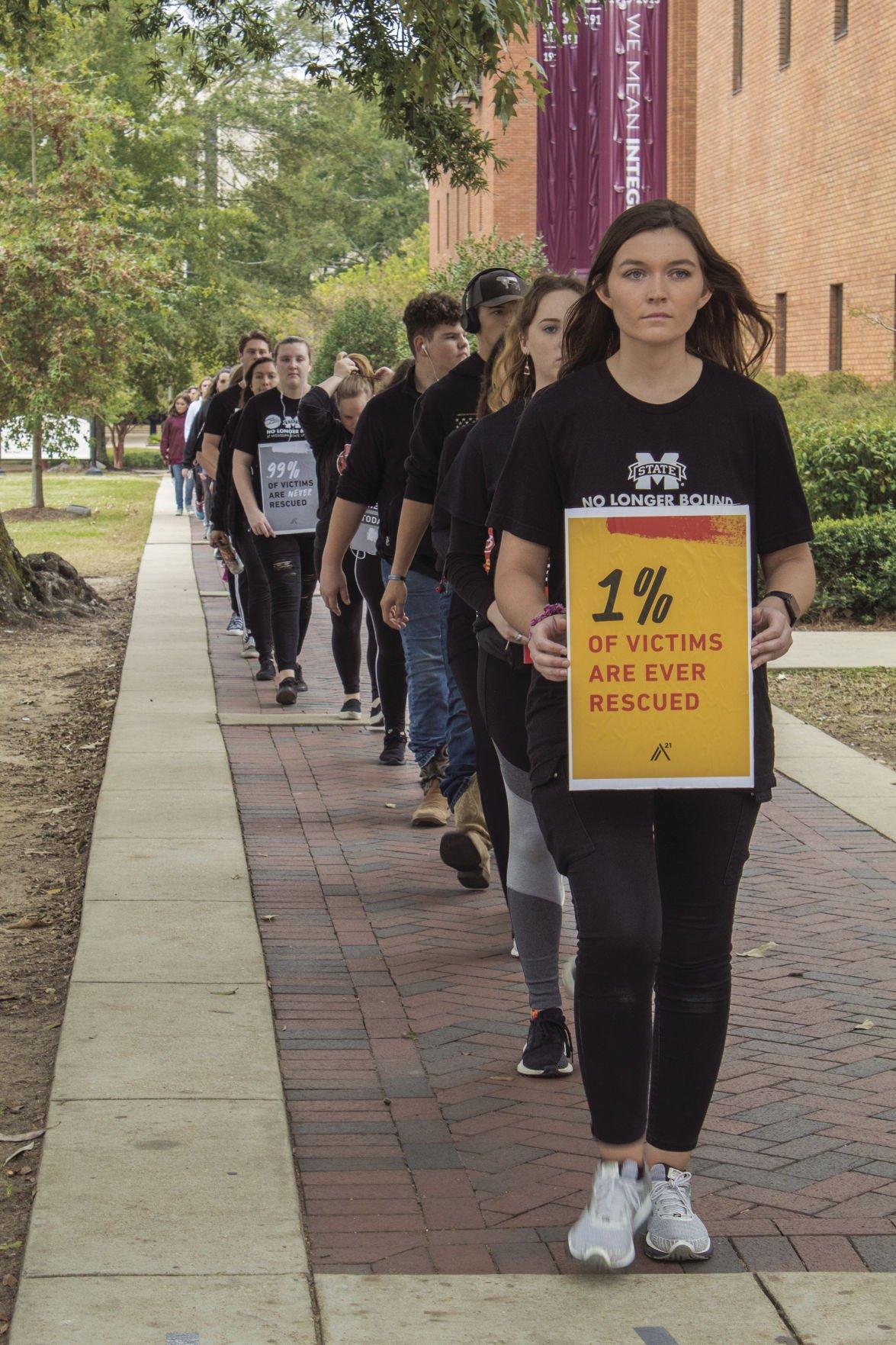 Student Anti-Trafficking Organization hosts Walk for Freedom