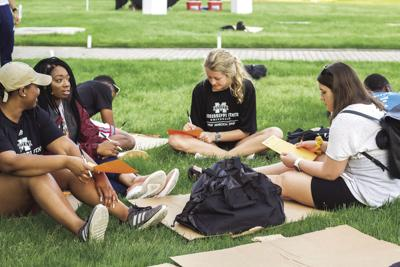 Students sleep on Drill Field to sympathize with homeless