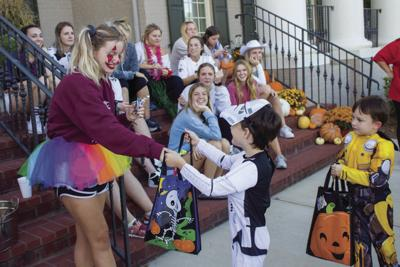 Students are trick-or-treating themselves this Halloween