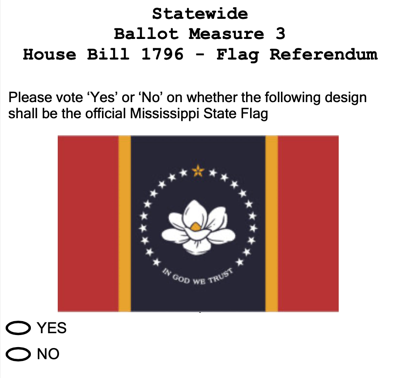 Mississippi voters look to the In God We Trust Flag this November