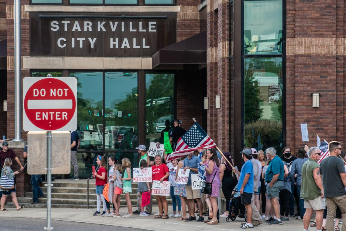 Medical freedom protest urges Starkville's board to rethink possible vaccine mandate for city employees