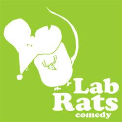 The logo for Lab Rats Comedy