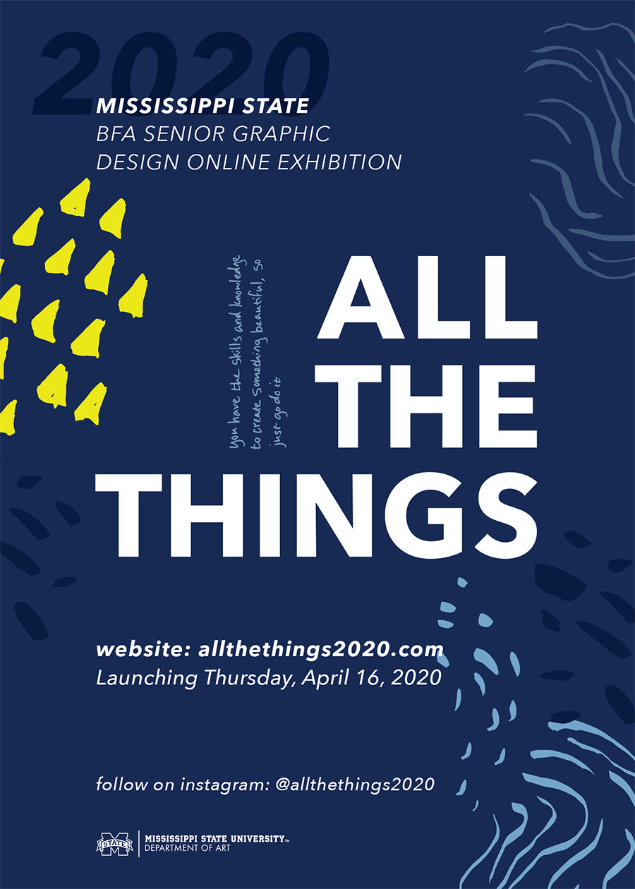 "Senior graphic design students prove COVID-19 cannot sabotage ""All The Things"""