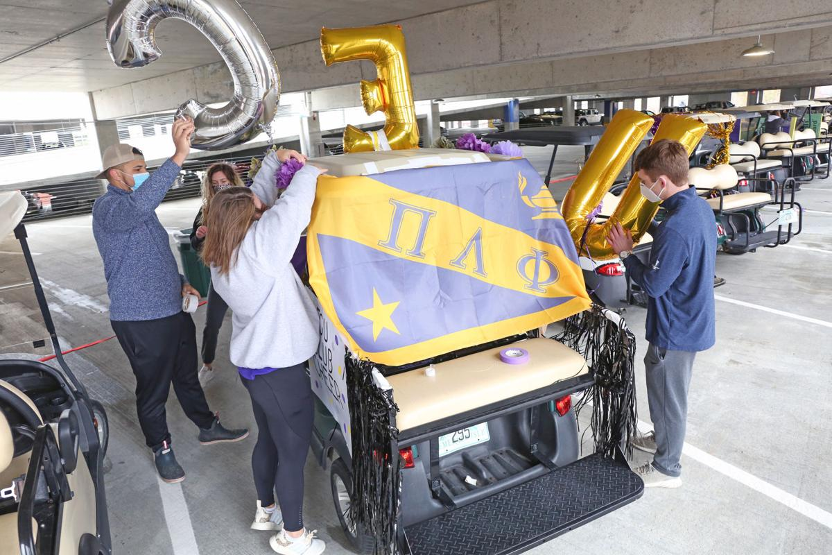 ECU students decorate golf carts for homecoming 1
