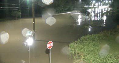 Flooding closes road