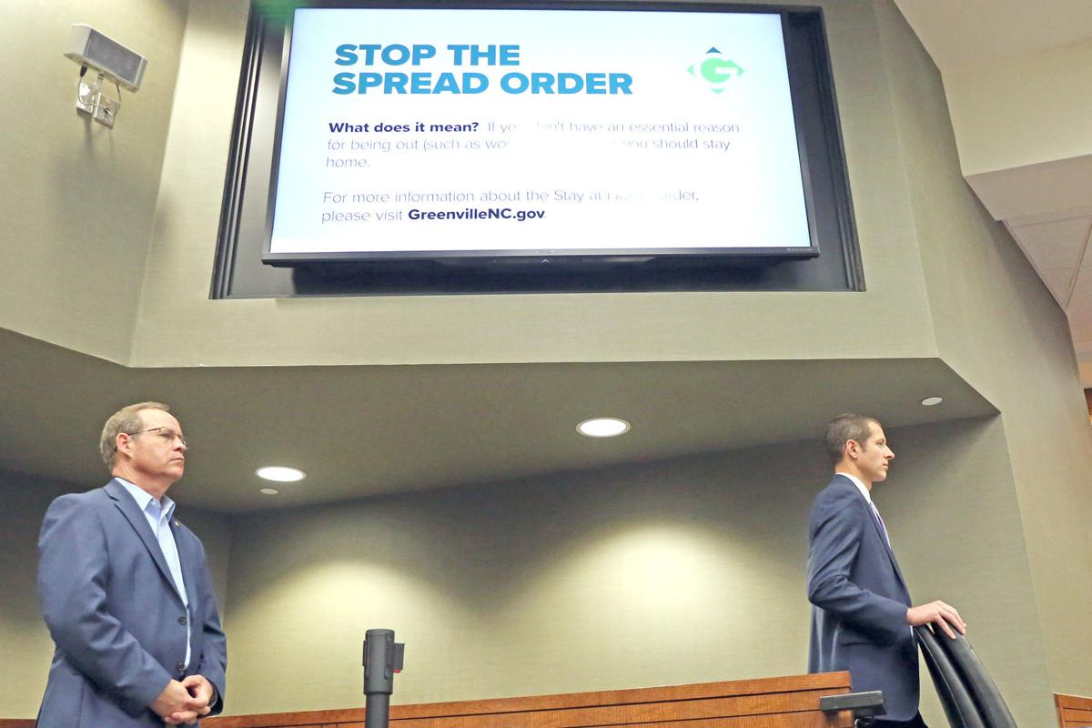 Stop the spread order announced in greenville wednesday 2