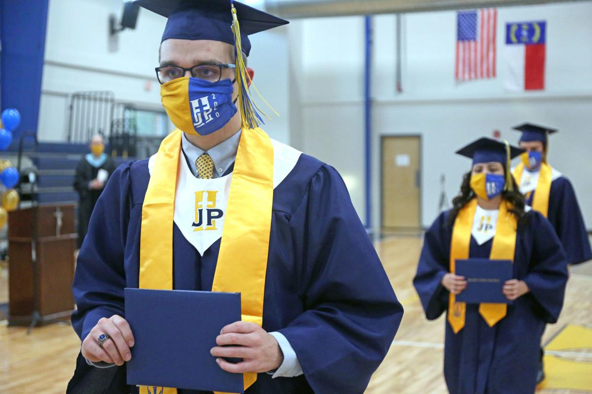 Seniors from John Paul II High graduate amid the pandemic with distancing 6