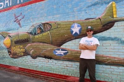 Ayden native honors WWII Ace with mural