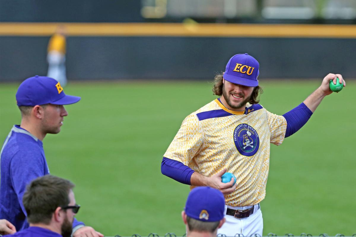 ECU's first baseball practice Friday 5