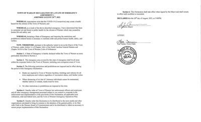 Coronavirus Emergency Declaration AMENDMENT