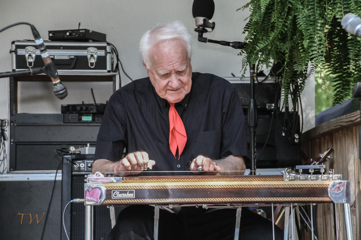 Clyde Mattocks on steel at Preddyfest