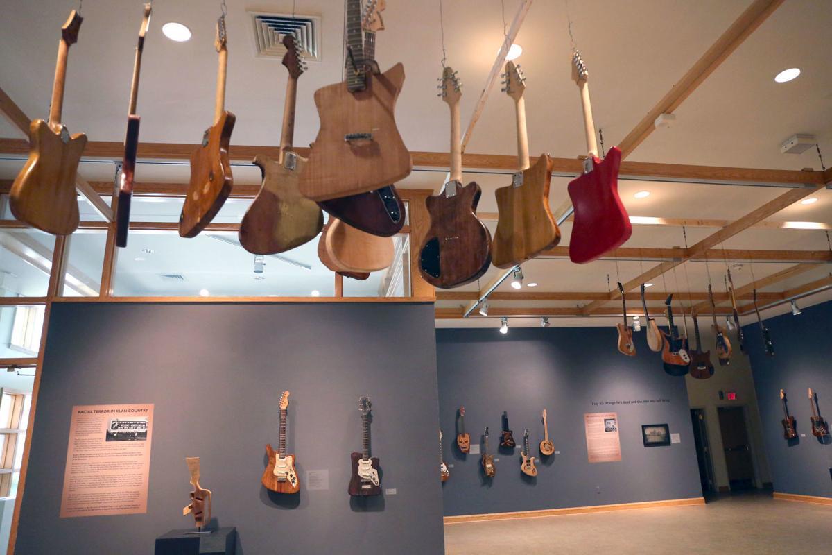 Hanging tree guitars exhibit 9