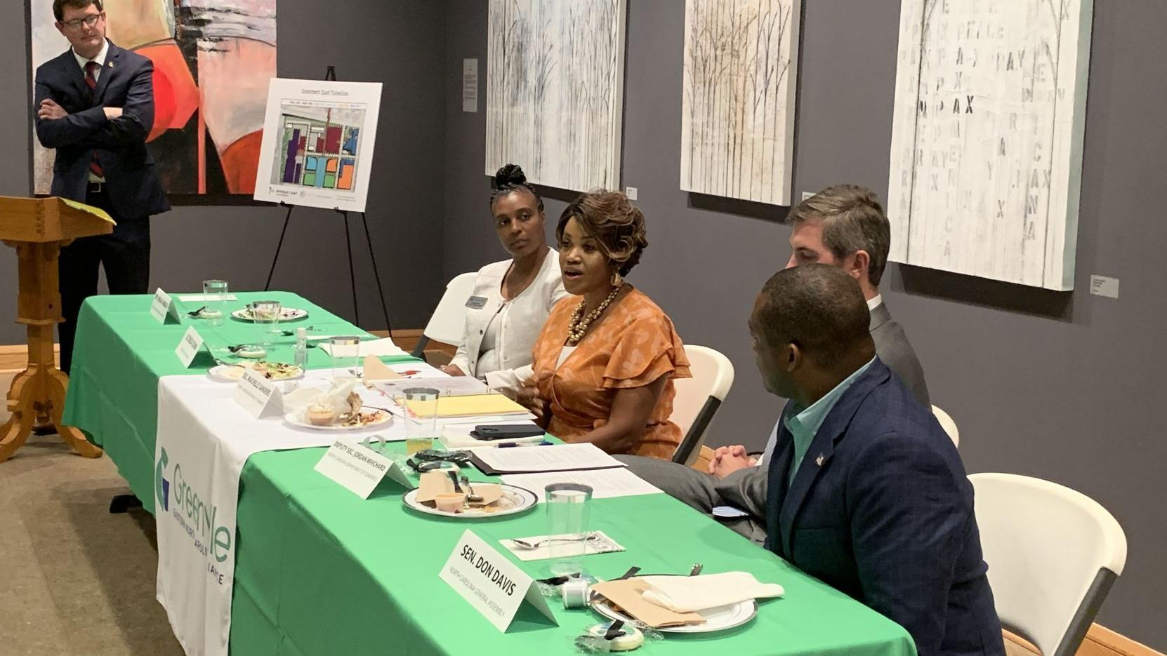 State economic authorities talk infrastructure, industry with Pitt County leadership