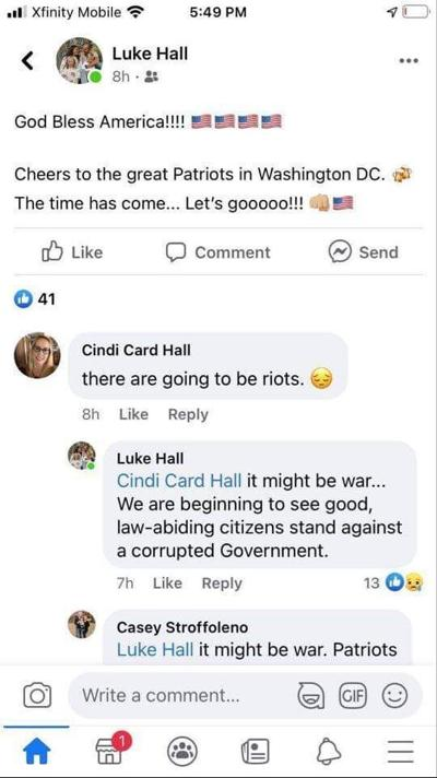 hall facebook screenshot