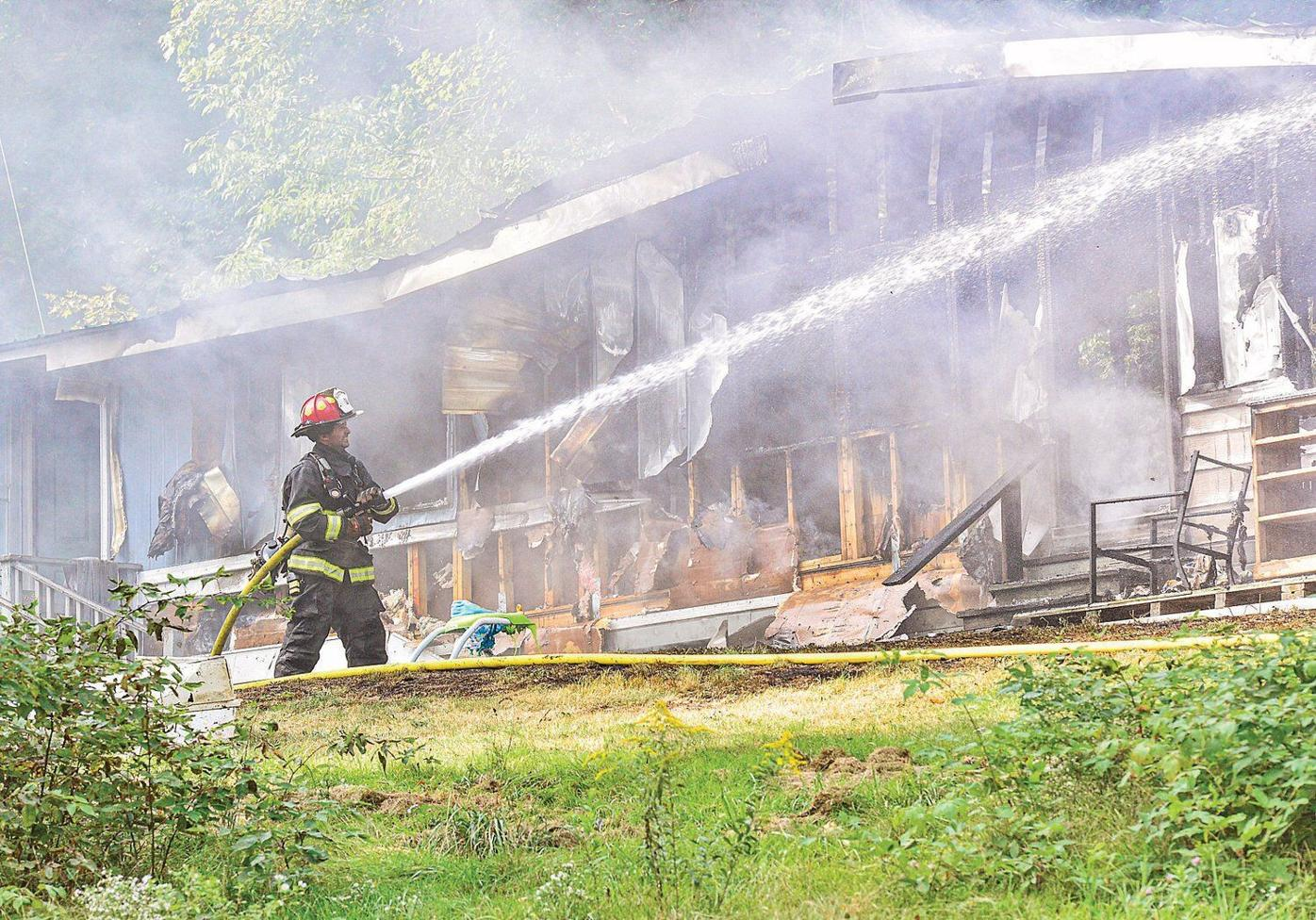 Fire guts Guilford home, pets missing